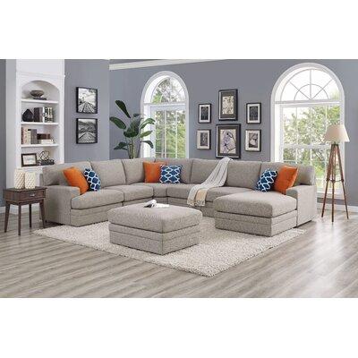 Sectional Sofa With Ottoman Grey Ebern
