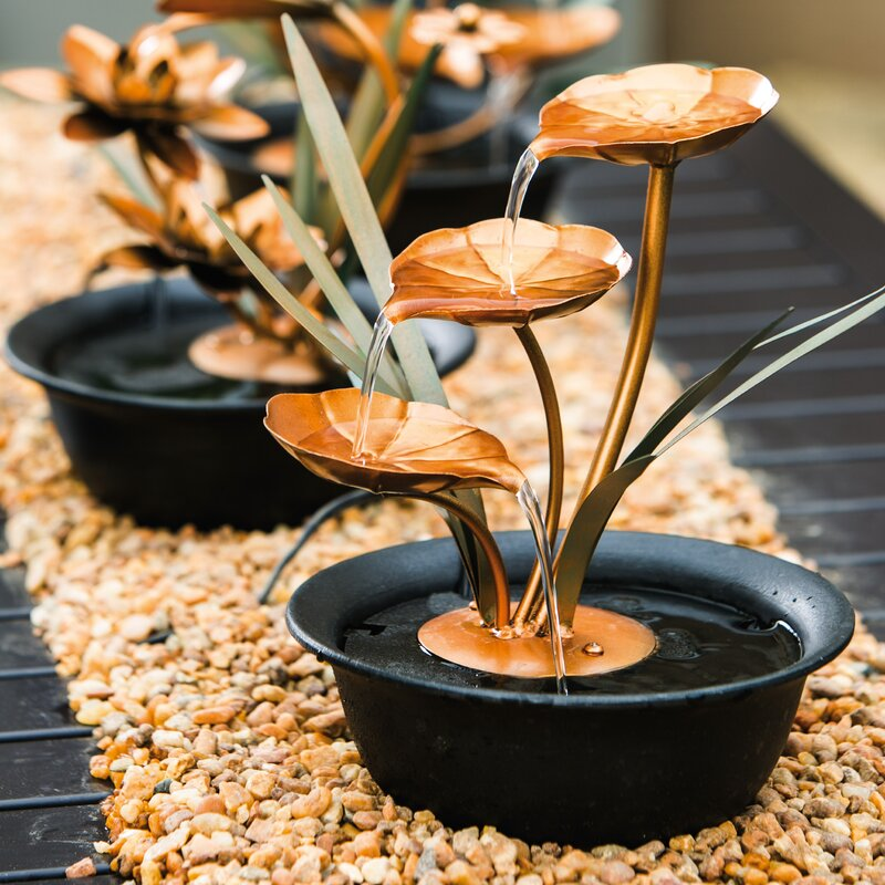 Evergreen Enterprises, Inc Acrylic Cascading Lily Pads Tabletop ...