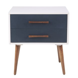 Burgos Storage 2 Drawer Nightstand by Trule Teen