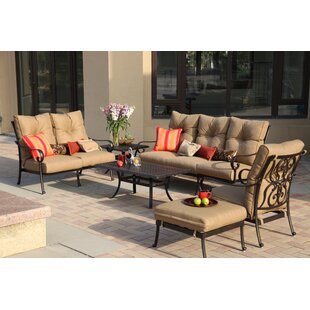 Darby Home Co Lanesville 4 Piece Sofa Set with Cushions