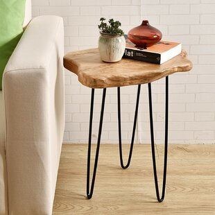 Cedar Wood End Table Welland LLC