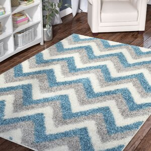 Kids Ivory/Blue/Gray Area Rug