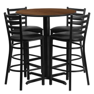 Minghui 5 Piece Dining Table Set