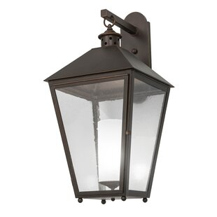 Read Reviews Greenbriar Oak 1-Light Outdoor Wall Lantern By Meyda Tiffany