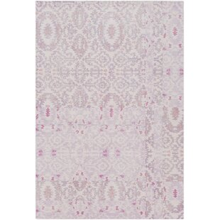 Reviews Knowland Hand-Tufted Wool Blush/Mauve Area Rug By Bungalow Rose
