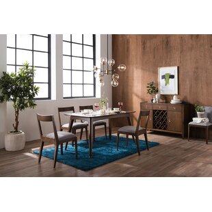 Ellsinore 5 Piece Solid Wood Dining Table Set