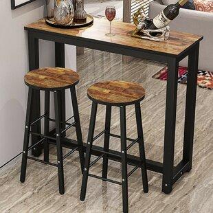 Ebern Designs Plainfield 3 Piece Pub Table Set