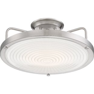 Canistota LED Semi Flush Mount by Latitude Run