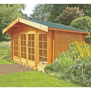 Etna 12 X 8 Ft. Tongue And Groove Log Cabin By Sol 72 Outdoor