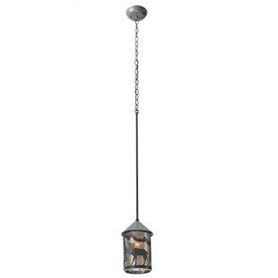 Meyda Tiffany Lone Moose Lantern 1-Light Mini Pendant