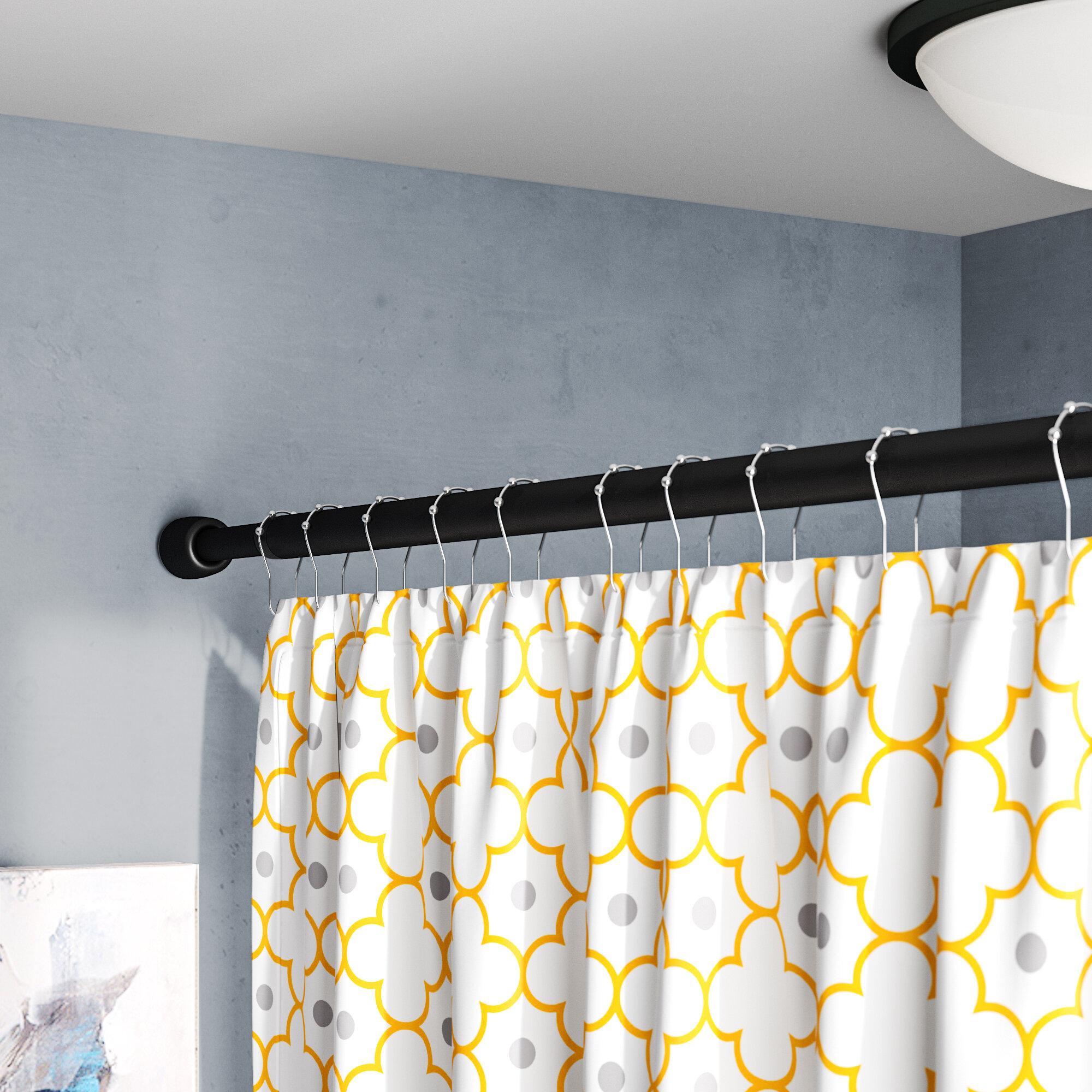 Symple Stuff Larosa 87 Adjustable Straight Tension Shower Curtain