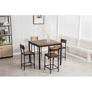 Bushman 5 Piece Pub Table Set Williston Forge