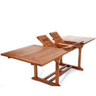 Longshore Tides Humphrey Extendable Teak Dining Table