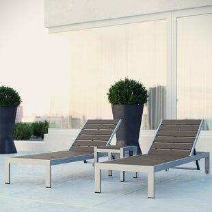 Orren Ellis Coline 3 Piece Chaise Lounge Set