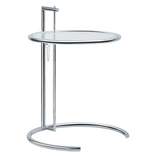 Eileen Adjustable Glass End Table by C2A Designs