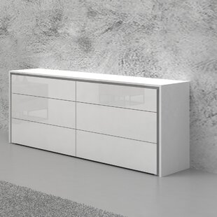 Orren Ellis Austral 6 Drawer Double Dresser