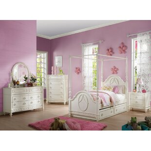 Siya Twin Canopy Bed by Harriet Bee Bargain
