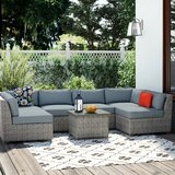 Brennon 7 Piece Sectional Seating Group with Cushions by Sol 72 Outdoor™