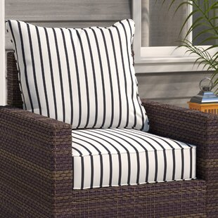 Breakwater Bay Stripe Indoor/Outdoor Sunbrella Dining Chair Cushion