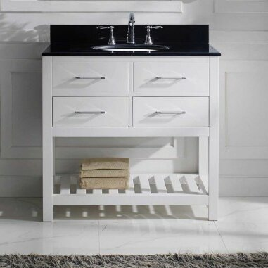"36 Bathroom Vanity virtu usa caroline estate 36"" bathroom vanity cabinet & reviews"
