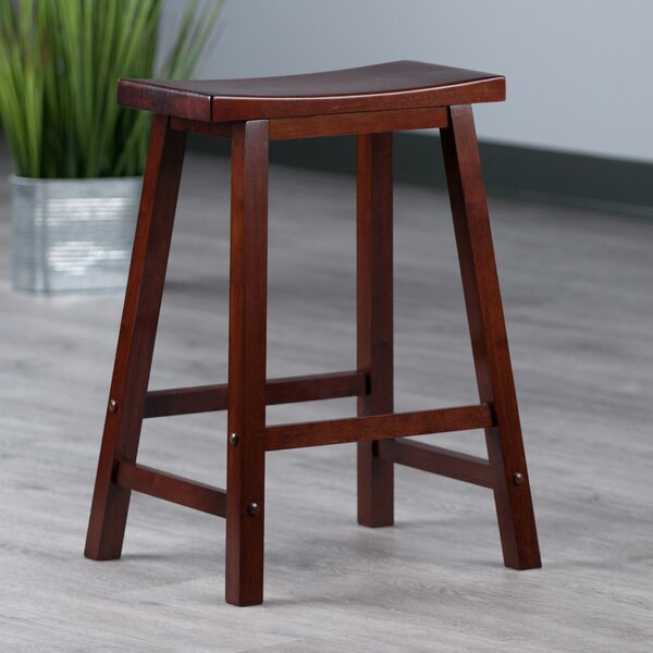 Red Barrel Studio Nev Solid Wood Bar Amp Counter Stool