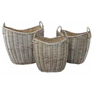 Feitoza 3 Piece Log Carrier By August Grove