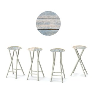 30'' Patio Bar Stool with Cushion (Set of 4) by Best of Times