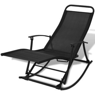 Freeport Park Chaunce Foldable Garden Rocking Chair