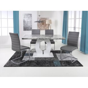 Aunesty Dining Set With 4 Chairs By Wade Logan