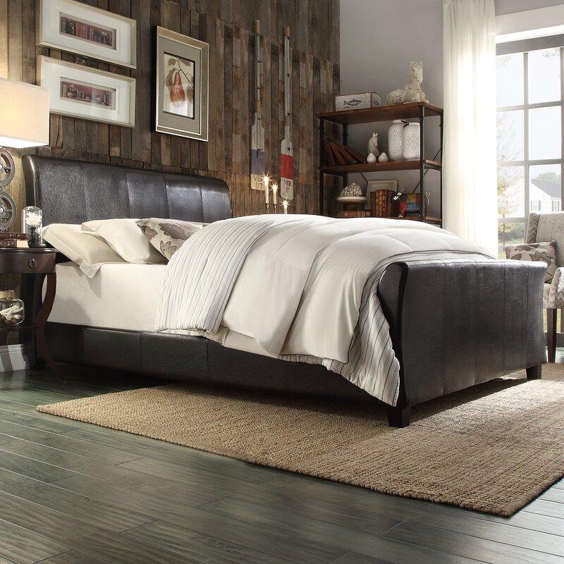stonybrook upholstered sleigh bed