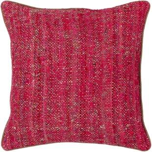 Branche Textured Contemporary Silk Throw Pillow