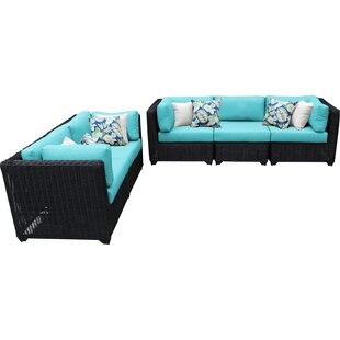 Fairfield 5 Piece Sofa Seating Group with Cushions