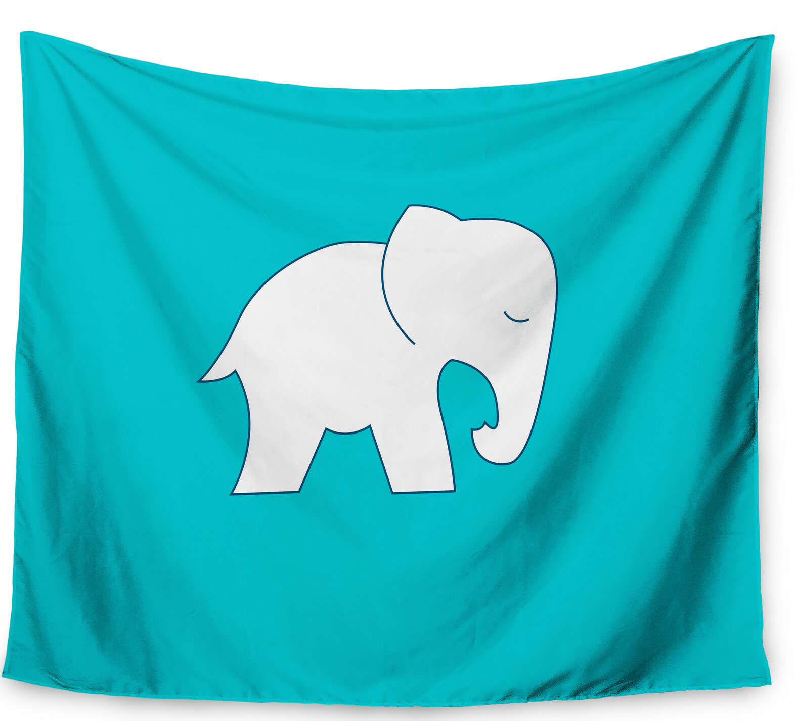 East Urban Home Cute White Elephant by NL Designs Wall Tapestry ...