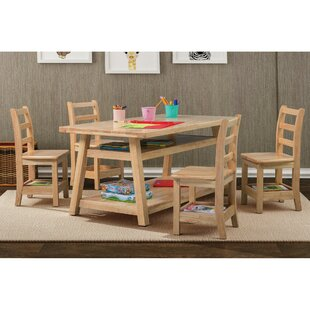 Sit n' Stash Kids 5 Piece Table and Chair Set By ECR4kids