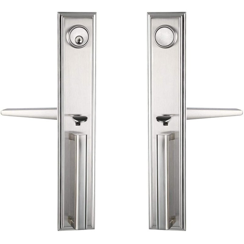 Newbang Lever Handleset With Single Cylinder Deadbolt And Door And Rosette Wayfair