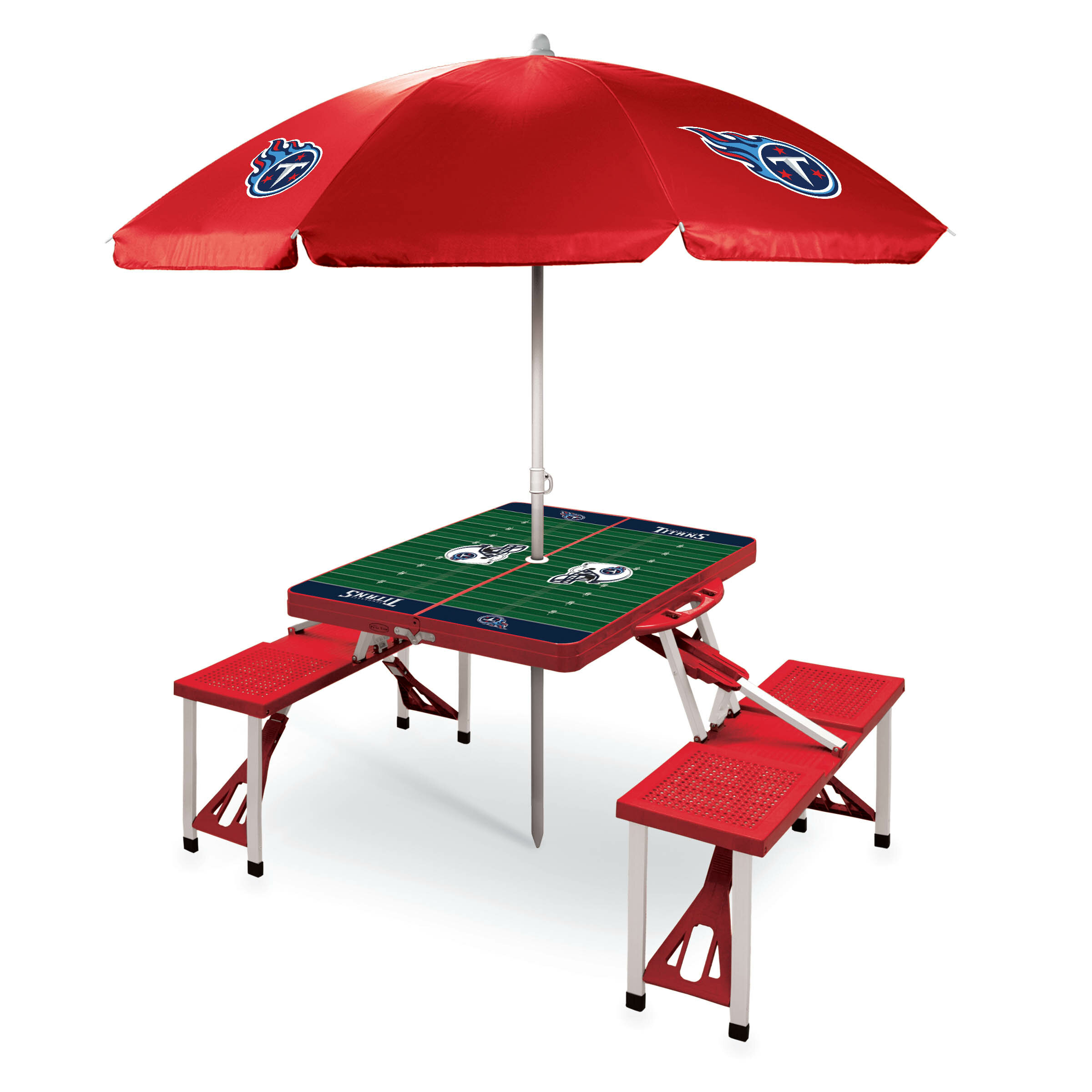 Red NFL Folding Picnic Table