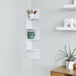 Zig Zag Corner Wall Shelf