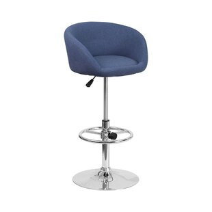 Mathew Adjustable Height Swivel Bar Stool by Orren Ellis