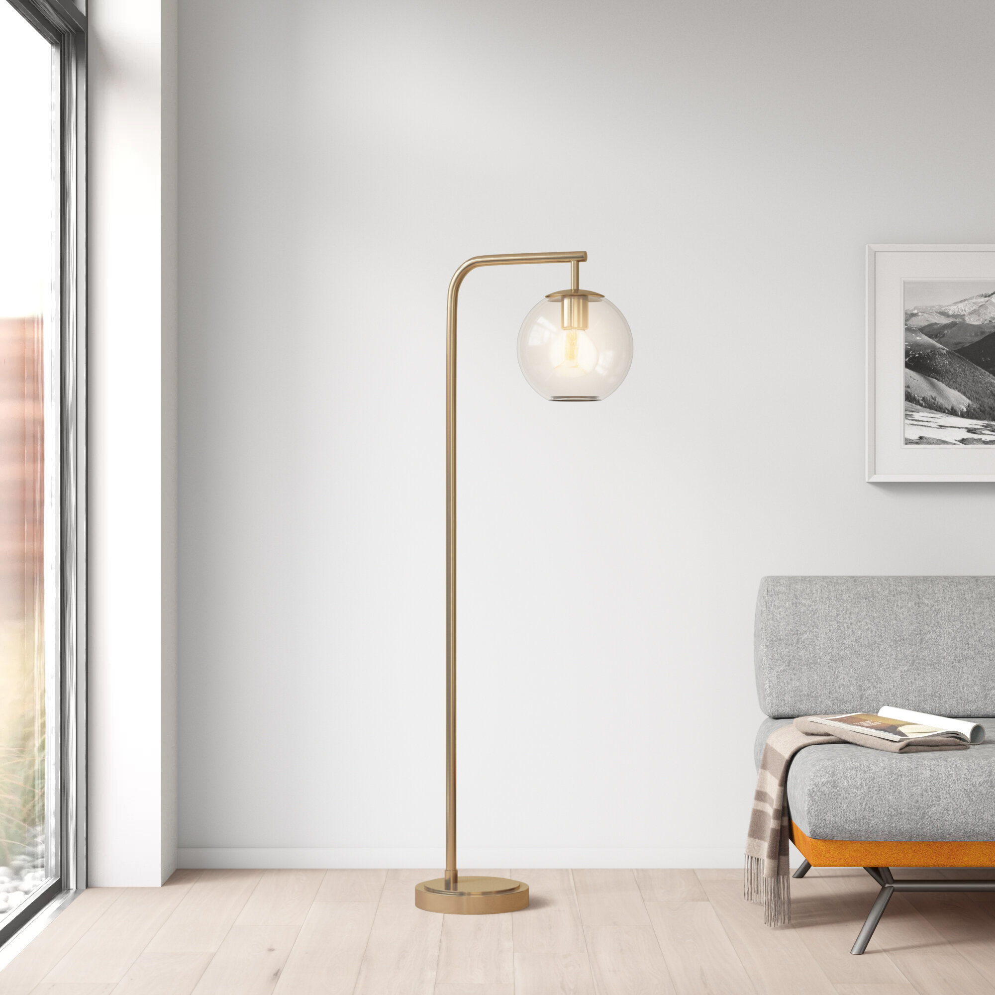 Antique Brass Arched Floor Lamps You Ll Love In 2020 Wayfair