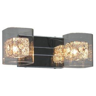 Buy clear Cheryl 2-Light Vanity Light By Whitfield Lighting