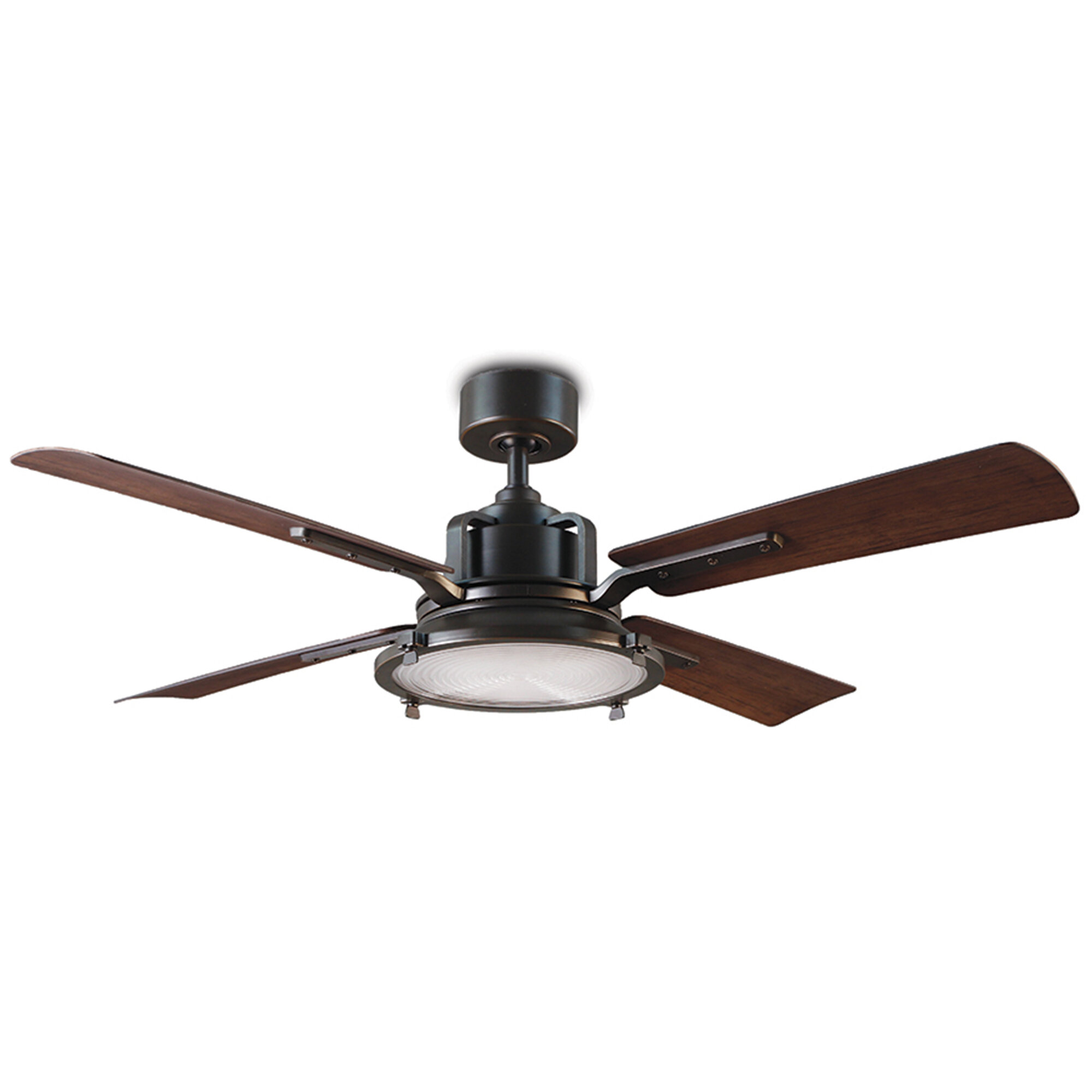 Modern Forms 56 Nautilus 4 Blade Outdoor Led Smart Standard Ceiling Fan With Wall Control And Light Kit Included Reviews Wayfair