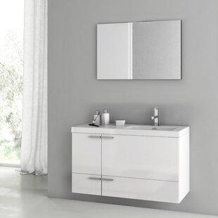 New Space 39 Single Bathroom Vanity Set with Mirror by ACF Bathroom Vanities
