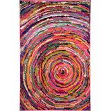 Killington Abstract Green/Pink Area Rug byWorld Menagerie