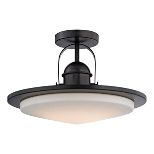 Rudder 1-Light LED Semi Flush Mount by Brayden Studio