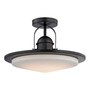 Rudder 1-Light LED Semi Fl..