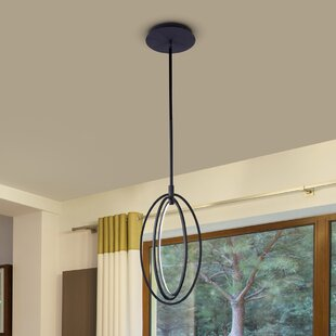 Claus Oval Rotating 3-Light LED Chandelier by 17 Stories
