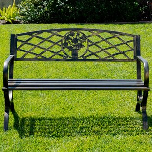Belleze Outdoor Metal Park Bench