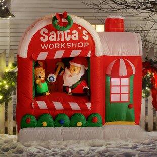 christmas inflatable santa workshop decoration