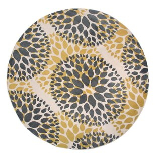 Beaudette Floral Yellow/Gray Area Rug by Wrought Studio