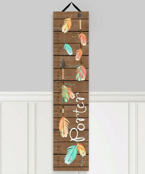 Toad and lily arrow personalized growth chart reviews wayfair